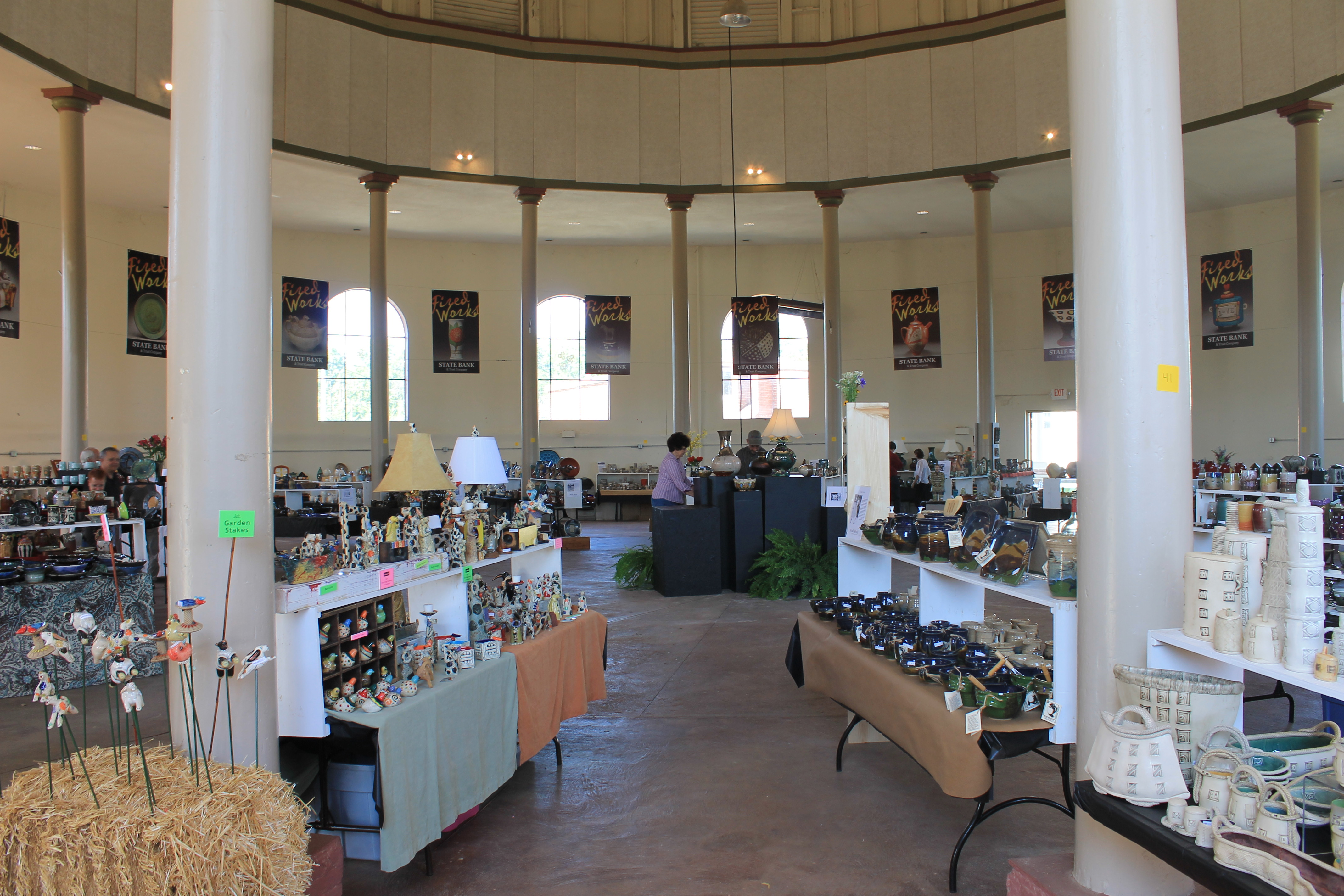 Fired Works is held in the Historic Round Building in Macon's beautiful Central City Park each April.