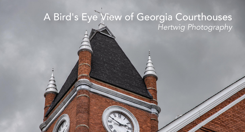 A Bird's Eye View of Georgia Courthouses
